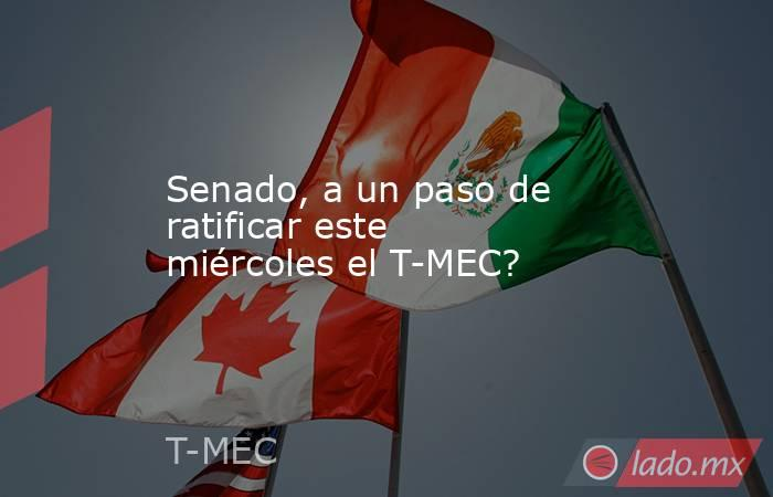 Senado, a un paso de ratificar este miércoles el T-MEC?. Noticias en tiempo real