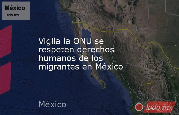Vigila la ONU se respeten derechos humanos de los migrantes en México. Noticias en tiempo real