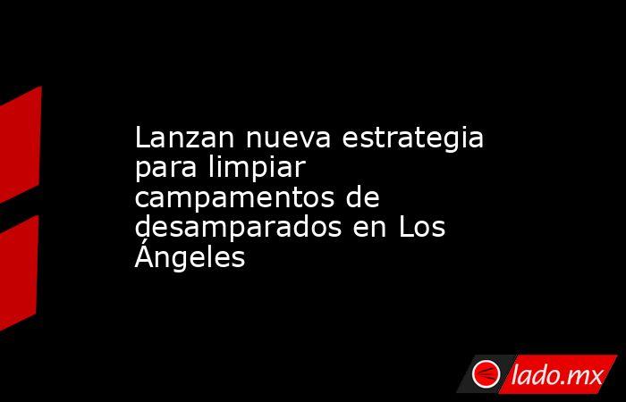Lanzan nueva estrategia para limpiar campamentos de desamparados en Los Ángeles. Noticias en tiempo real