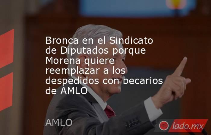 Bronca en el Sindicato de Diputados porque Morena quiere reemplazar a los despedidos con becarios de AMLO. Noticias en tiempo real