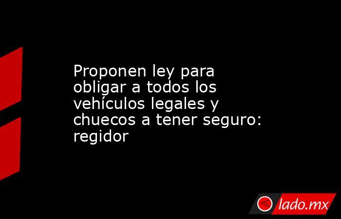 Proponen ley para obligar a todos los vehículos legales y chuecos a tener seguro: regidor. Noticias en tiempo real