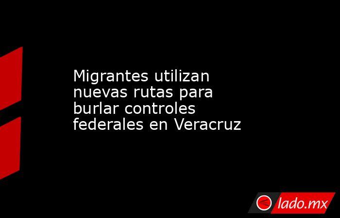 Migrantes utilizan nuevas rutas para burlar controles federales en Veracruz. Noticias en tiempo real