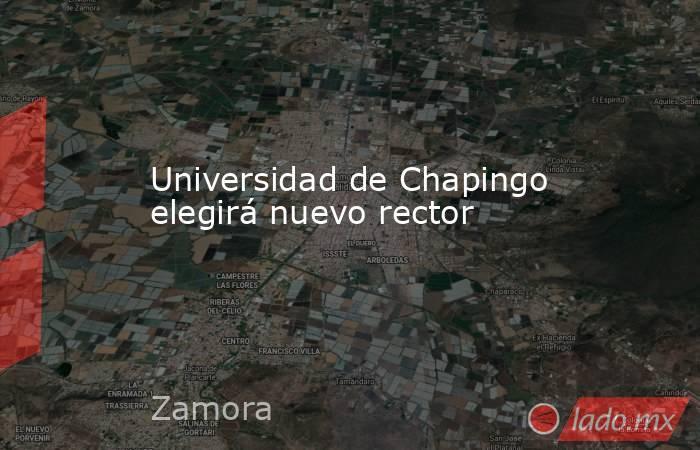 Universidad de Chapingo elegirá nuevo rector. Noticias en tiempo real