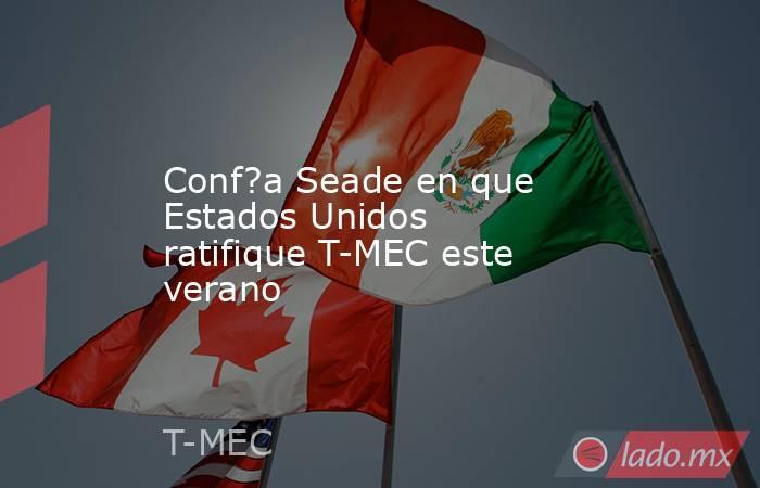 Conf?a Seade en que Estados Unidos ratifique T-MEC este verano. Noticias en tiempo real