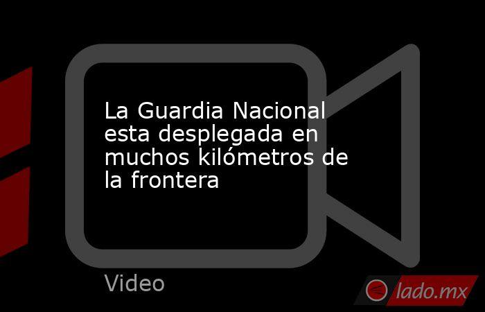 La Guardia Nacional esta desplegada en muchos kilómetros de la frontera. Noticias en tiempo real