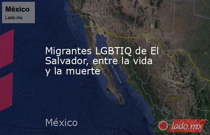 Migrantes LGBTIQ de El Salvador, entre la vida y la muerte. Noticias en tiempo real