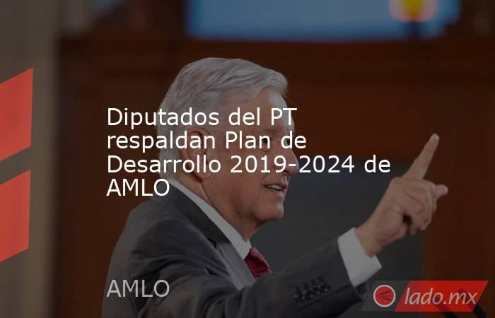 Diputados del PT respaldan Plan de Desarrollo 2019-2024 de AMLO. Noticias en tiempo real