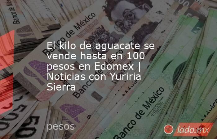 El kilo de aguacate se vende hasta en 100 pesos en Edomex | Noticias con Yuriria Sierra. Noticias en tiempo real