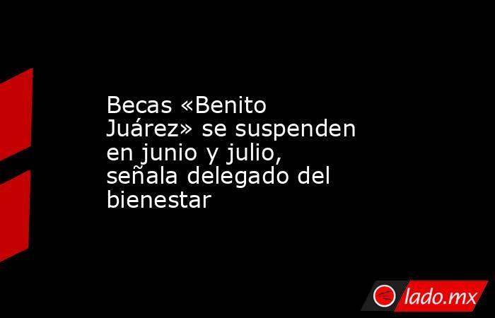 Becas «Benito Juárez» se suspenden en junio y julio, señala delegado del bienestar. Noticias en tiempo real