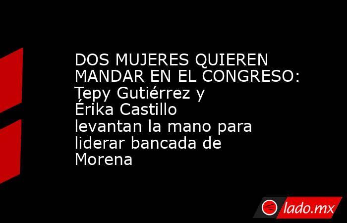 DOS MUJERES QUIEREN MANDAR EN EL CONGRESO: Tepy Gutiérrez y Érika Castillo levantan la mano para liderar bancada de Morena. Noticias en tiempo real