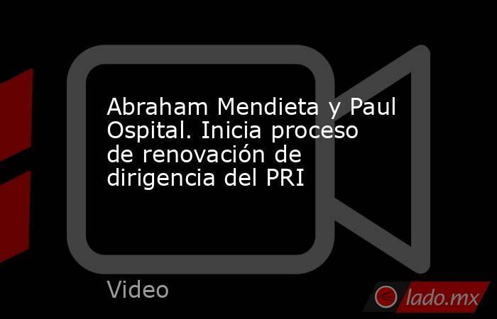Abraham Mendieta y Paul Ospital. Inicia proceso de renovación de dirigencia del PRI. Noticias en tiempo real