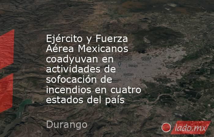 Ejército y Fuerza Aérea Mexicanos coadyuvan en actividades de sofocación de incendios en cuatro estados del país. Noticias en tiempo real