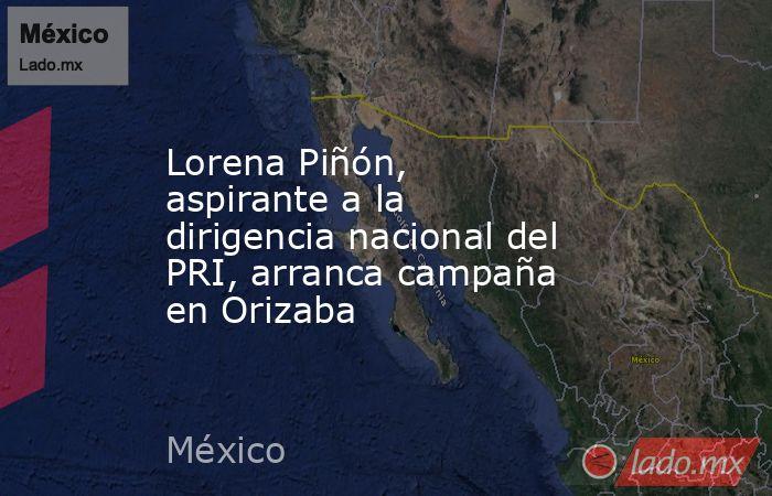 Lorena Piñón, aspirante a la dirigencia nacional del PRI, arranca campaña en Orizaba. Noticias en tiempo real