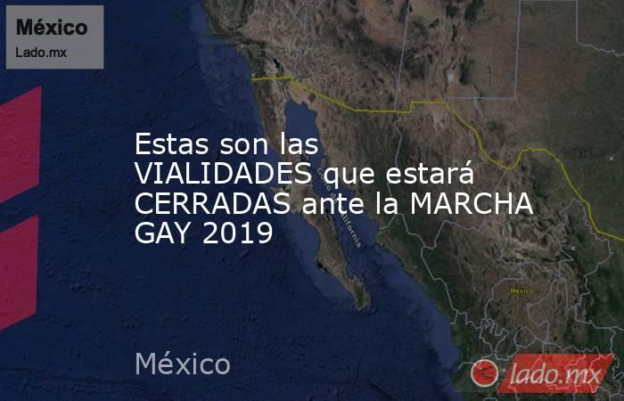 Estas son las VIALIDADES que estará CERRADAS ante la MARCHA GAY 2019. Noticias en tiempo real