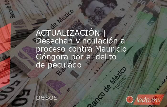 ACTUALIZACIÓN | Desechan vinculación a proceso contra Mauricio Góngora por el delito de peculado. Noticias en tiempo real