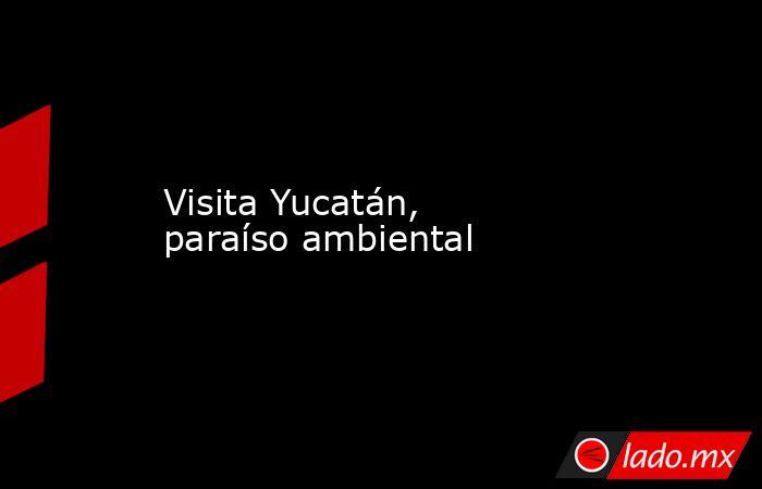 Visita Yucatán, paraíso ambiental. Noticias en tiempo real