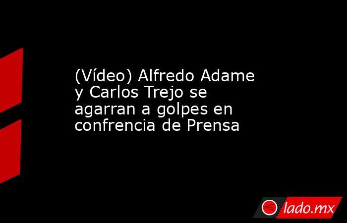 (Vídeo) Alfredo Adame y Carlos Trejo se agarran a golpes en confrencia de Prensa. Noticias en tiempo real