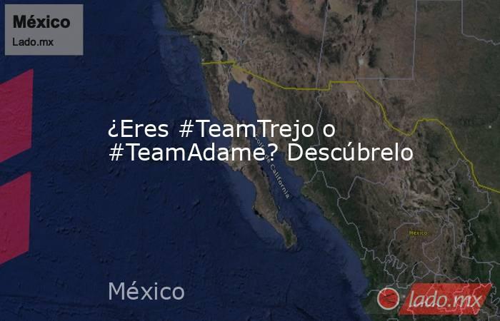 ¿Eres #TeamTrejo o #TeamAdame? Descúbrelo. Noticias en tiempo real