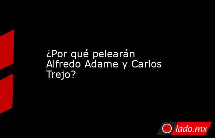 ¿Por qué pelearán Alfredo Adame y Carlos Trejo?. Noticias en tiempo real