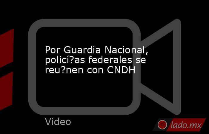 Por Guardia Nacional, polici?as federales se reu?nen con CNDH. Noticias en tiempo real