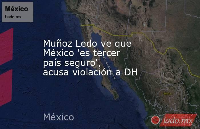 Muñoz Ledo ve que México 'es tercer país seguro', acusa violación a DH. Noticias en tiempo real