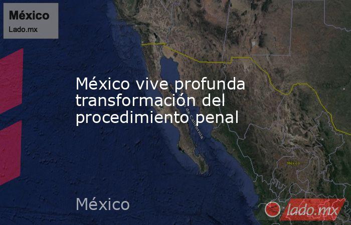 México vive profunda transformación del procedimiento penal. Noticias en tiempo real