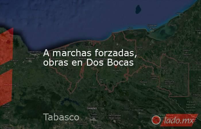 A marchas forzadas, obras en Dos Bocas. Noticias en tiempo real