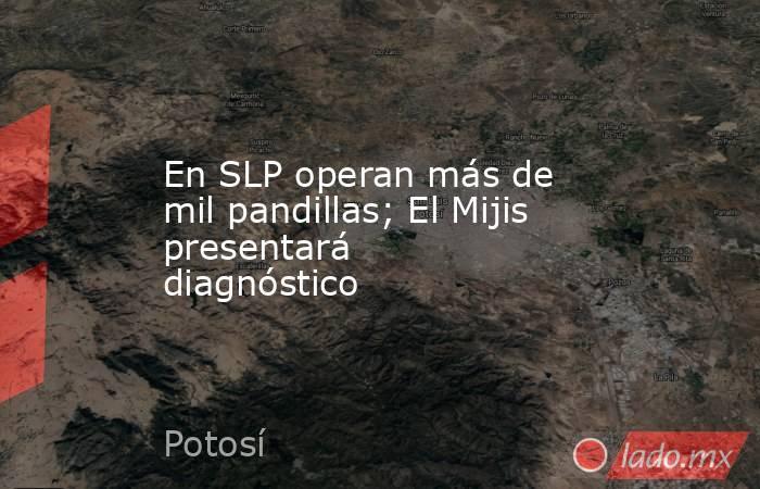 En SLP operan más de mil pandillas; El Mijis presentará diagnóstico. Noticias en tiempo real