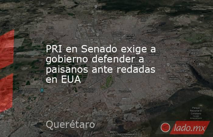 PRI en Senado exige a gobierno defender a paisanos ante redadas en EUA. Noticias en tiempo real