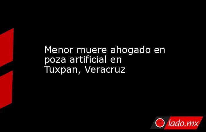 Menor muere ahogado en poza artificial en Tuxpan, Veracruz. Noticias en tiempo real