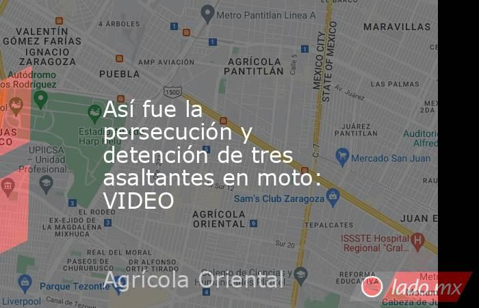 Así fue la persecución y detención de tres asaltantes en moto: VIDEO. Noticias en tiempo real