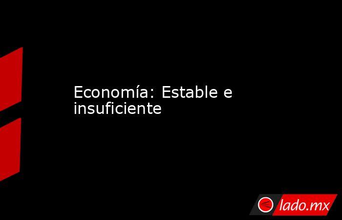 Economía: Estable e insuficiente. Noticias en tiempo real