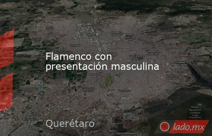Flamenco con presentación masculina. Noticias en tiempo real