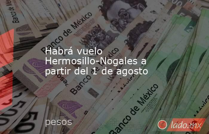 Habrá vuelo Hermosillo-Nogales a partir del 1 de agosto. Noticias en tiempo real