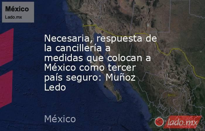 Necesaria, respuesta de la cancillería a medidas que colocan a México como tercer país seguro: Muñoz Ledo. Noticias en tiempo real