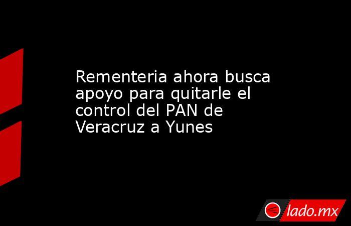 Rementeria ahora busca apoyo para quitarle el control del PAN de Veracruz a Yunes. Noticias en tiempo real