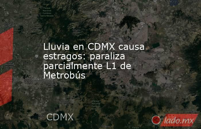 Lluvia en CDMX causa estragos: paraliza parcialmente L1 de Metrobús. Noticias en tiempo real