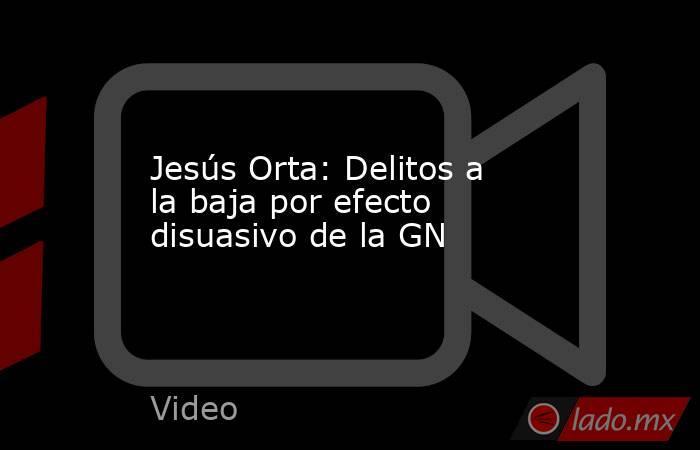 Jesús Orta: Delitos a la baja por efecto disuasivo de la GN. Noticias en tiempo real