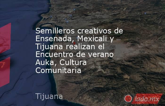 Semilleros creativos de Ensenada, Mexicali y Tijuana realizan el Encuentro de verano Auka, Cultura Comunitaria. Noticias en tiempo real