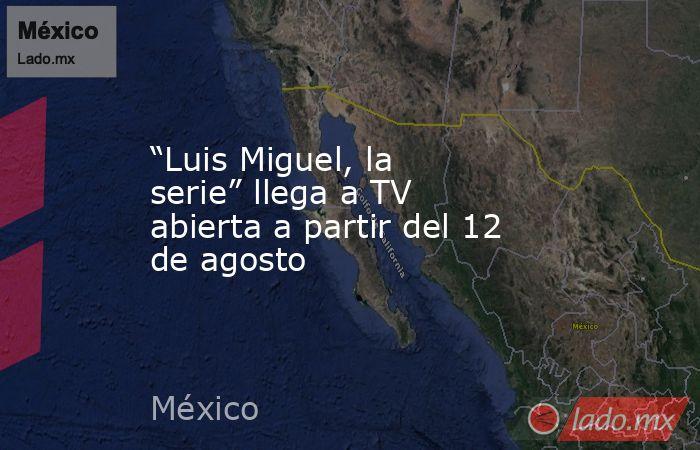 """""""Luis Miguel, la serie"""" llega a TV abierta a partir del 12 de agosto. Noticias en tiempo real"""