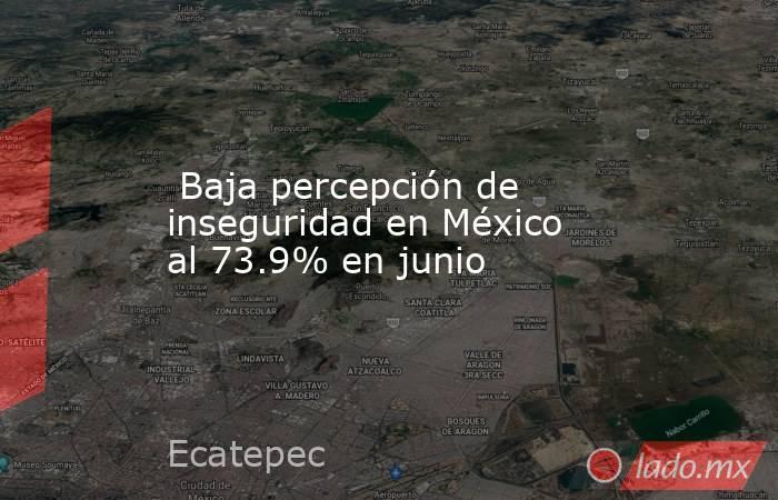 Baja percepción de inseguridad en México al 73.9% en junio. Noticias en tiempo real