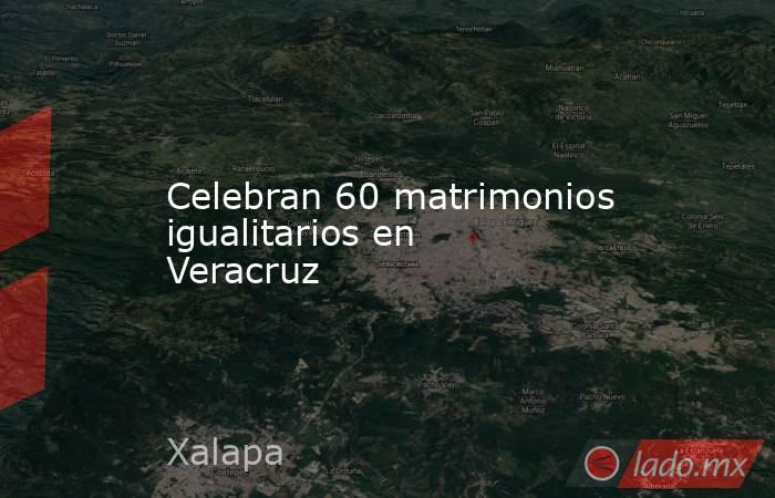 Celebran 60 matrimonios igualitarios en Veracruz. Noticias en tiempo real