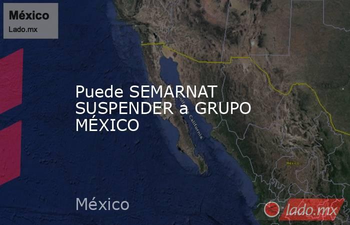 Puede SEMARNAT SUSPENDER a GRUPO MÉXICO. Noticias en tiempo real