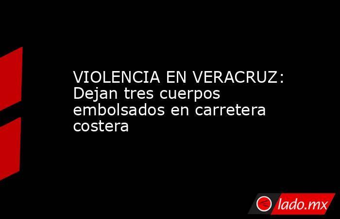 VIOLENCIA EN VERACRUZ: Dejan tres cuerpos embolsados en carretera costera. Noticias en tiempo real