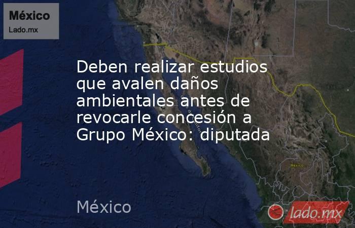 Deben realizar estudios que avalen daños ambientales antes de revocarle concesión a Grupo México: diputada. Noticias en tiempo real
