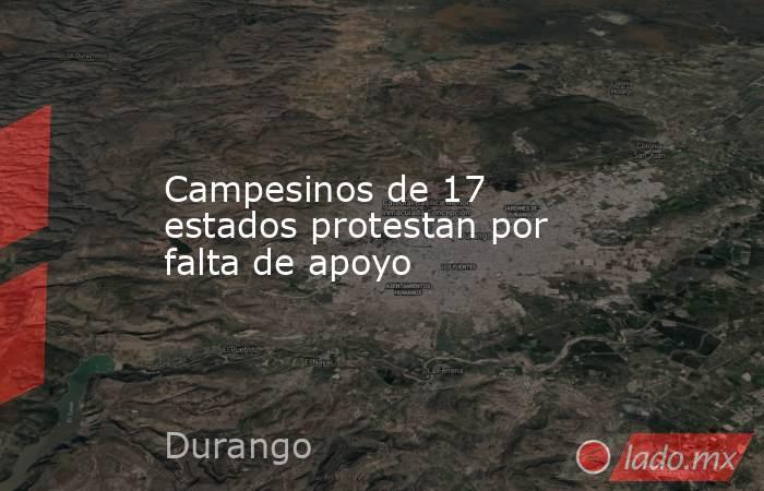Campesinos de 17 estados protestan por falta de apoyo. Noticias en tiempo real