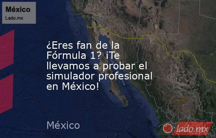 ¿Eres fan de la Fórmula 1? ¡Te llevamos a probar el simulador profesional en México!. Noticias en tiempo real