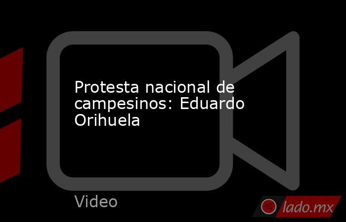 Protesta nacional de campesinos: Eduardo Orihuela. Noticias en tiempo real
