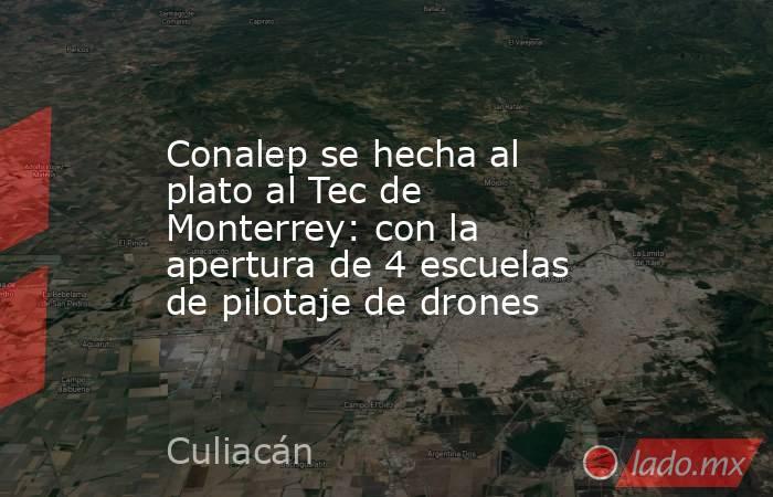 Conalep se hecha al plato al Tec de Monterrey: con la apertura de 4 escuelas de pilotaje de drones. Noticias en tiempo real