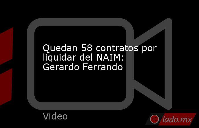 Quedan 58 contratos por liquidar del NAIM: Gerardo Ferrando. Noticias en tiempo real